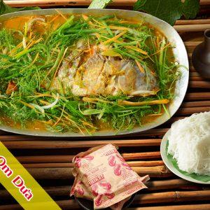 Cá chép om dưa Pao Quán