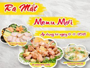 Pao Quán chính thức áp dụng menu mới